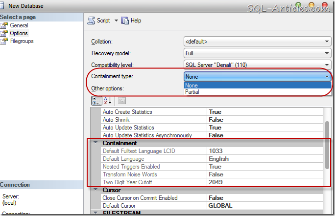 Contained Database – SQL Server 2012 – SQL-Articles