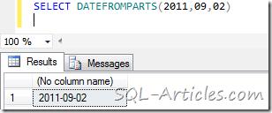 datefromparts