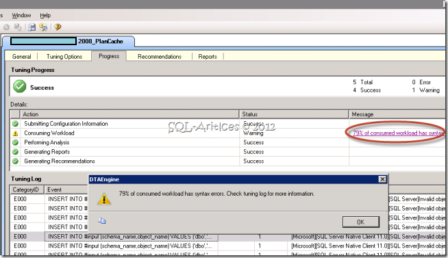 What's new in DTA – SQL Server 2012 – SQL-Articles