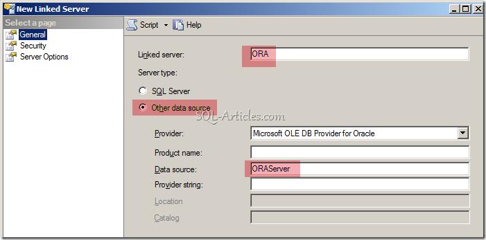Creating Oracle Linked Server in SQL Server – SQL-Articles